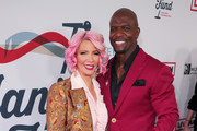 (L-R) Rebecca King-Crews and Terry Crews arrive at Steven Tyler's Third Annual Grammy Awards Viewing Party to benefit Janie's Fund presented by Live Nation at Raleigh Studios on January 26, 2020 in Los Angeles, California.