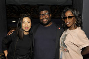 (L-R) Michaela Dietz, Ian Jones-Quartey and Estelle attend 'Steven Universe: The Movie' Screening at The Theatre at Ace Hotel on August 26, 2019 in Los Angeles, California.
