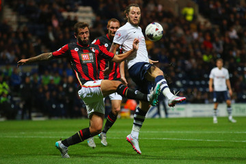 Stevie May Preston North End v AFC Bournemouth - Capital One Cup Third Round