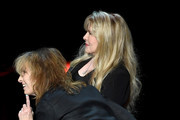 Singer/songwriter Stevie Nicks (R) is joined onstage by recording artist Chrissie Hynde of The Pretenders during the grand opening of Park Theater at Monte Carlo Resort and Casino on December 17, 2016 in Las Vegas, Nevada.