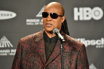 Stevie Wonder 30th Annual Rock And Roll Hall Of Fame Induction Ceremony - Press Room