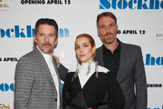 """(L-R) Ethan Hawke, Noomi Rapace and Robert Budreau attend the """"Stockholm"""" New York Premiere at Museum of Modern Art on April 11, 2019 in New York City."""