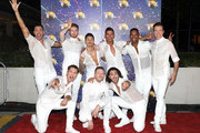 "(L-R back row) Giovanni Pernice, Neil Jones, Gorka Marquez, Aljaž Skorjanec, Johannes Radebe and Anton Du Beke (L-R front row) AJ Pritchard, Kevin Clifton and Graziano Di Prima attend the ""Strictly Come Dancing"" launch show red carpet at Television Centre on August 26, 2019 in London, England."