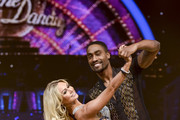 Simon Webbe & Kristina Rihanoff attend a photocall to launch the Strictly Come Dancing Live Tour 2015 at Birmingham Barclaycard Arena on January 15, 2015 in Birmingham, England.