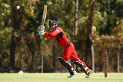 Alex Ross of the Desert Blaze bats during the Strike League match between the Desert Blaze and the Southern Storm at Marrara Cricket Ground on July 1st, 2018 in Darwin, Australia.