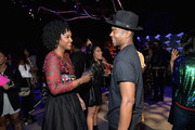 Antoinette Robertson (L) and Marque Richardson attend Strong Black Lead party during Netflix FYSEE at Raleigh Studios on June 12, 2018 in Los Angeles, California.