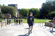 Students walk through the campus of Yale University on the day the U.S. Senate Judiciary Committee was holding hearings for testimony from Dr. Christine Blasey Ford and Supreme Court nominee Brett Kavanaugh September 27, 2018 in New Haven, Connecticut. Blasey Ford, a professor at Palo Alto University and a research psychologist at the Stanford University School of Medicine, has accused Kavanaugh of sexually assaulting her during a party in 1982 when they were high school students in suburban Maryland.