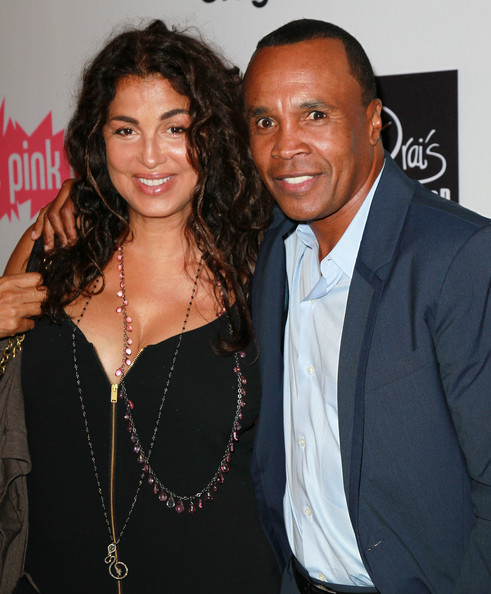Sugar Ray Leonard with cool, beautiful, Wife Bernadette Robi