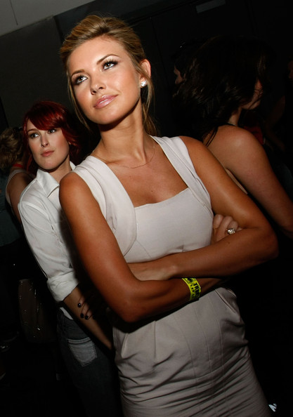 "Actresses Rumer Willis and Audrina Patridge of ""Sorority Row"" attend Summit Entertainment at Comic-Con 2009 held in San Diego Convention Center on July 23, 2009 in San Diego, California."