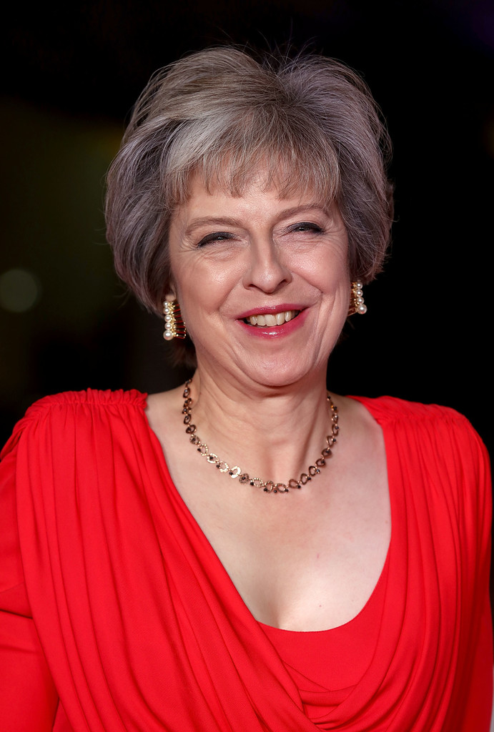 Theresa May Photos Photos - The Sun Military Awards - Red ...