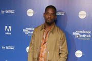 Actor Aml Ameen attends the 'Yardie' red carpet arrivals during the Sundance Film Festival at Picturehouse Central on June 1, 2018 in London, England.