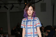 Model Irene Kim attends Suno runway show during Mercedes-Benz Fashion Week Fall 2015 at Center 548 on February 13, 2015 in New York City.