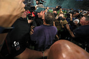 Head coach Doug Pederson of the Philadelphia Eagles shakes hands with head coach Bill Belichick after defeating the New England Patriots 41-33 in Super Bowl LII at U.S. Bank Stadium on February 4, 2018 in Minneapolis, Minnesota.