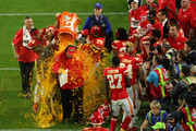 Head coach Andy Reid of the Kansas City Chiefs gets dunked in Gatorade after defeating the San Francisco 49ers 31-20 in Super Bowl LIV at Hard Rock Stadium on February 02, 2020 in Miami, Florida.