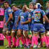 Matt Hodgson Photos - Matt Hodgson of the Force is congratulated by team mates after crossing for a try during the round 15 Super Rugby match between the Western Force and the Lions at nib Stadium on May 24, 2014 in Perth, Australia. - Super Rugby Rd 15 - Force v Lions