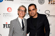 VP Marketing and Promotions at Supima Buxton Midyette (L) and fashion designer Bibhu Mohapatra pose backstage at the Supima Design Competition fashion show during Spring 2016 New York Fashion Week: The Shows at The Gallery, Skylight at Clarkson Sq on September 10, 2015 in New York City.