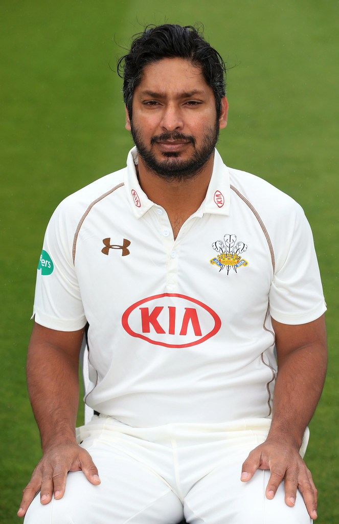 kumar sangakkara photos photos - surrey ccc photocall