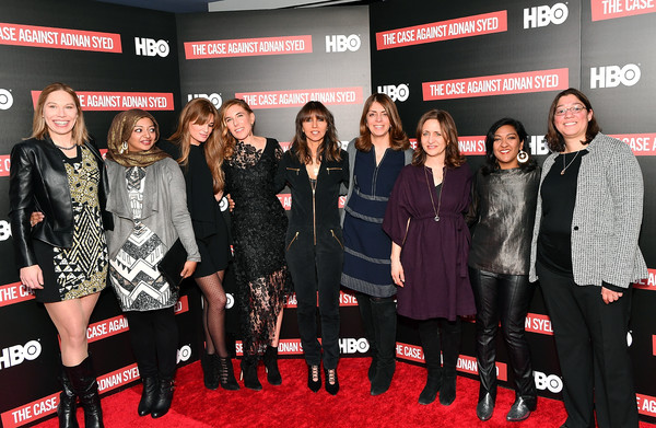 NY Premiere Of HBO's 'The Case Against Adnan Syed' At Pure Nonfiction [the case against adnan syed,premiere,event,carpet,red carpet,flooring,performance,rabia chaudry,susan simpson,amy berg,jemima khan,nancy abraham,pure non fiction,ny,hbo,premiere]