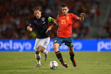 Suso Fernandez Spain vs. Croatia - UEFA Nations League A