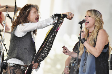 Suzie McNeil Steven Tyler Performs on NBC's 'Today'
