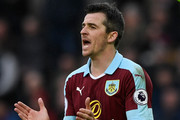 Burnley player Joey Barton reacts during the Premier League match between Swansea City and Burnley at Liberty Stadium on March 4, 2017 in Swansea, Wales.