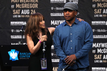 Sway Calloway Floyd Mayweather Jr. v Conor McGregor World Press Tour - New York