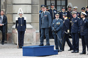 King Carl XVI Gustaf of Sweden and Prince Carl Philip, Duke of Varmland attend the celebration of King Carl Gustav's 72nd birthday anniversary at the Royal Palace on April 30, 2018 in Stockholm, Sweden.
