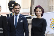 Prince Carl Philip of Sweden and Princess Sofia of Sweden pose for a picture upon arriving at the Swedish Parliament House for the opening of the new parliamentary session on September 10, 2019 in Stockholm, Sweden.