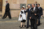 King Carl XVI Gustaf of Sweden and Queen Silvia of Sweden attend a church ceremony in connection with the opening of the Parliamentary session at the Stockholm Cathedral on September 10, 2019 in Stockholm, Sweden.