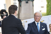 King Carl XVI Gustaf of Sweden arrives at the Swedish Parliament House for the opening of the new parliamentary session on September 10, 2019 in Stockholm, Sweden.