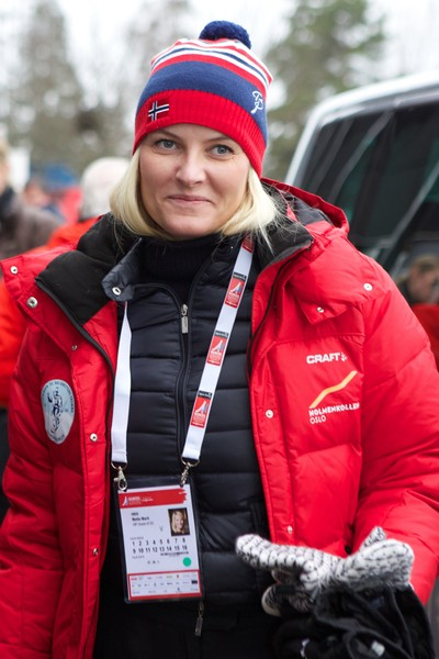 Crown Princess Mette-Marit of Norway attends the FIS Nordic World Ski Championships on February 27, 2015 in Falun, Sweden.