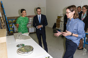 Crown Princess Victoria and Prince Daniel of Sweden visit the artist organization wip:sthlm and meet with artist Ebba Matz on August 26, 2020 in Stockholm, Sweden. Wip:sthlm aims to create an organization where a large group of artists can collaborate for the best possible workspaces as well as exchange of ideas.