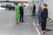 Crown Princess Victoria and Prince Daniel of Sweden visit the artist organization wip:sthlm and are greeted by Emma Hartman and and Malvin Karlsson on August 26, 2020 in Stockholm, Sweden. Wip:sthlm aims to create an organization where a large group of artists can collaborate for the best possible workspaces as well as exchange of ideas.