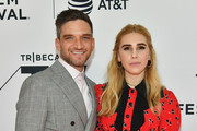 """Zosia Mamet and Evan Jonigkeit attend the screeing of """"Sweetbitter"""" during the 2018 Tribeca Film Festival at SVA Theatre on April 26, 2018 in New York City."""