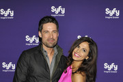 Warren Christie and Azita Ghanizada attend the Syfy 2012 Upfront event at the American Museum of Natural History on April 24, 2012 in New York City.