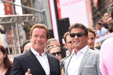 Sylvester Stallone Arnold Schwarzenegger Celebs Arrive at the Premiere of Paramount Pictures' 'Terminator Genisys'