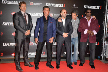 Sylvester Stallone Jason Statham 'The Expendables 3' Photo Call in Paris