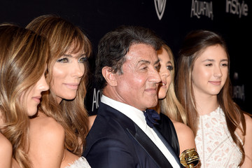 Sylvester Stallone Scarlet Stallone The 2016 InStyle and Warner Bros. 73rd Annual Golden Globe Awards Post-Party - Red Carpet