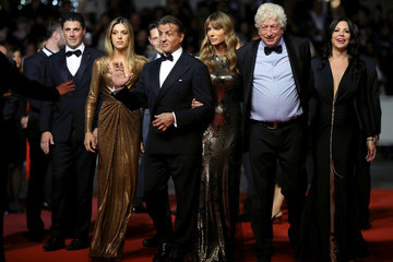 Sylvester Stallone Sistine Rose Stallone 'Rambo - Last Blood' Red Carpet - The 72nd Annual Cannes Film Festival