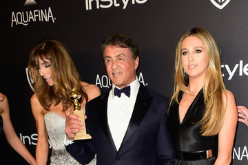 Sylvester Stallone Sophia Rose Stallone 2016 InStyle and Warner Bros. 73rd Annual Golden Globe Awards Post-Party - Arrivals