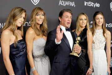 Sylvester Stallone Sophia Stallone 2016 InStyle and Warner Bros. 73rd Annual Golden Globe Awards Post-Party - Arrivals