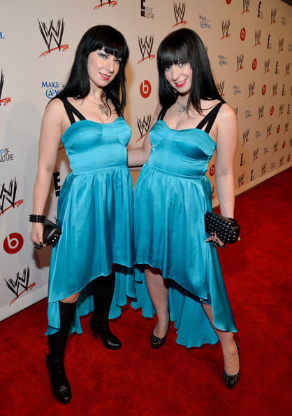 Arrivals at WWE's 'Superstars for Hope' Event — Part 2 [clothing,dress,carpet,red carpet,flooring,cocktail dress,leg,premiere,event,black hair,sylvia soska,jen soska,superstars for hope,the beverly hills hotel,beverly hills,california,wwe,e entertainment,l,event]