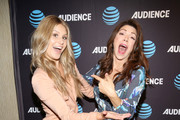 """Actresses Natalie Sharp and Amy Pietz attend the AT&T AUDIENCE Network premiere of """"Hit The Road"""" during the AT&T AUDIENCE Network Summer 2017 TCA Panel at The Beverly Hilton Hotel on July 25, 2017 in Beverly Hills, California."""