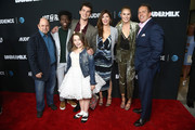 """Jason Alexander, Tim Johnson Jr., Nick Marini, Maddie Dixon-Poirier, Amy Pietz, Natalie Sharp and Chris Long attend attends the AT&T AUDIENCE Network Premieres """"Loudermilk"""" And """"Hit The Road"""" on October 10, 2017 in Los Angeles, California."""