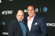 """Jason Alexander and Chris Long attend the AT&T AUDIENCE Network Premieres """"Loudermilk"""" And """"Hit The Road"""" on October 10, 2017 in Los Angeles, California."""