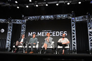(L-R) Jack Bender, Gabriel Ebert, Breeda Wool and Brett Gelman attend AT&T AUIDENCE Network Presents 'Mr. Mercedes' At The Television Critics Association In Beverly Hills at The Beverly Hilton on July 23, 2019 in Los Angeles, California.