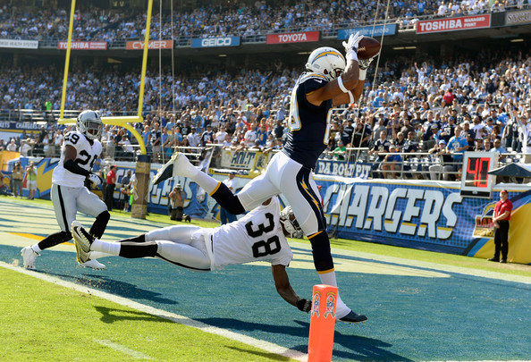 T J Carrie Pictures Oakland Raiders V San Diego