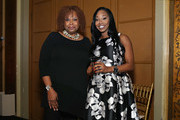 Host Robin Quivers poses for a photo with Comptroller for the Transport Workers Union Local 100/ honoree Dalia-Lamming Tilly during the T.J. Martell Foundation 4th Annual Women Of Influence Awards on May 13, 2016 in New York, New York.