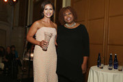 Media personality/ honoree Kristine Johnson poses for a photo with host Robin Quivers during the T.J. Martell Foundation 4th Annual Women Of Influence Awards on May 13, 2016 in New York, New York.
