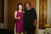 Vice President of International Repertoire Development at Warner Music Group and Vice Chair of the Recording Academy/ honoree Ruby Marchand poses for a photo with host Robin Quivers during the T.J. Martell Foundation 4th Annual Women Of Influence Awards on May 13, 2016 in New York, New York.